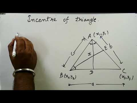Incentre of triangle Properties and Derivation | Coordinate Geometry Part 6 | Kamaldheeriya