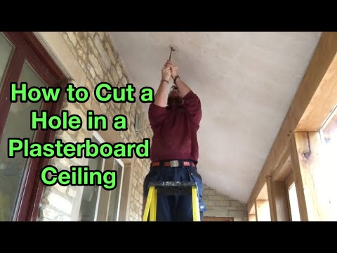 How to Cut a Hole in a Plasterboard Ceiling to Fit a LED Downlight