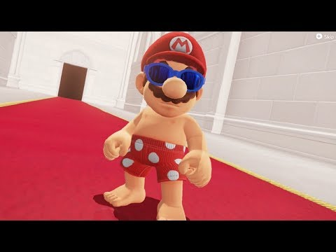 Super Mario Odyssey - Top 5 Funniest Bowser Reactions to Mario's Costumes