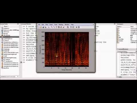 How to read a wav file and make it spectrogram ( matlab)