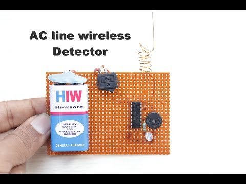 How to Make a AC line wireless detector at Home