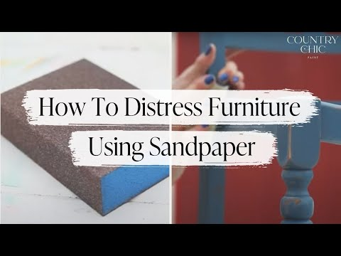 How To Distress Furniture With Sandpaper | Painted Wood Furniture Distressing Technique