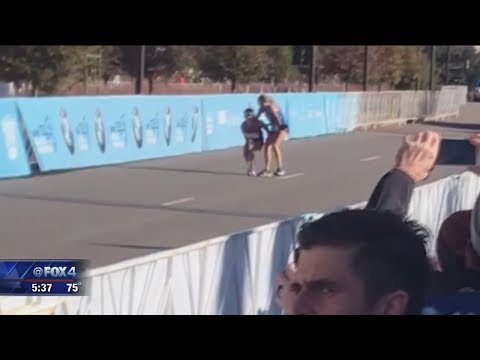 Teen helps struggling Dallas marathon runner win the race