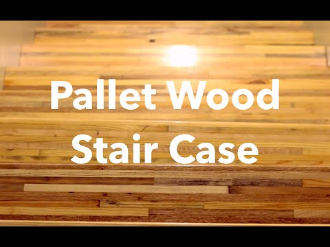 PALLET WOOD STAIR TREADS - Upcycled Modern Home