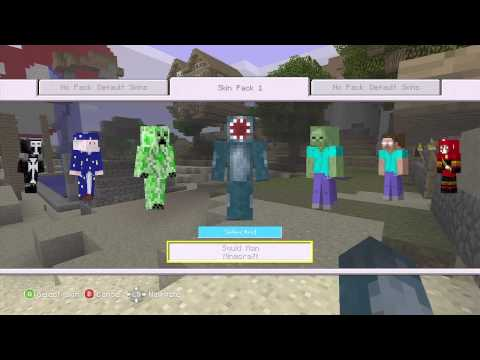 Minecraft - Skin pack 1 | Showing you what's in it | HD xbox 360 edition
