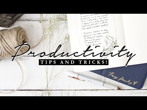 3 Simple Ways to be More Organized & Productive!