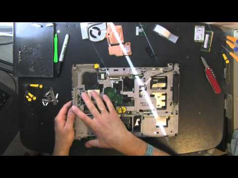 LENOVO T61 take apart video, disassemble, how to open disassembly