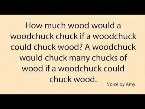 Learn English - Woodchuck (tongue twister)