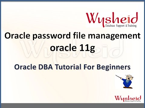 Oracle password file creation and usage  | manage password file in oracle