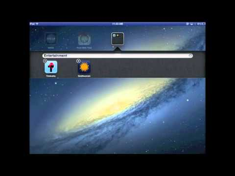 How to Move, Delete and Create Folders on the iPad