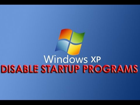 Disable Startup Programs on Windows XP [HD]