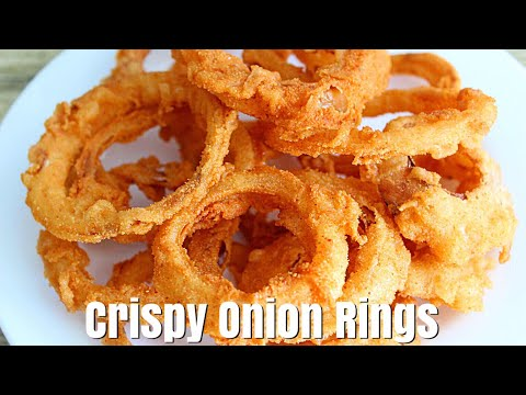 HOMEMADE CRISPY ONION RINGS WITHOUT BEER - How To Make Onion Rings - Simple Cooking Videos