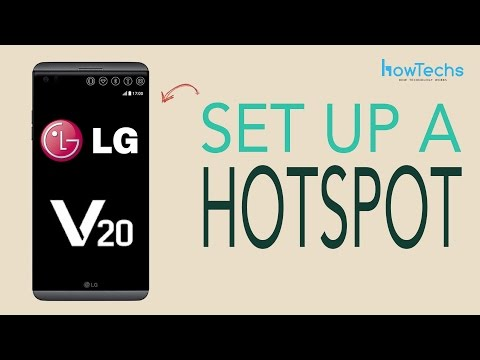 LG V20 - How to set up a Wifi Hotspot