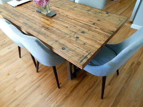 Reclaimed Semi Truck Trailer Wood Floor Tables
