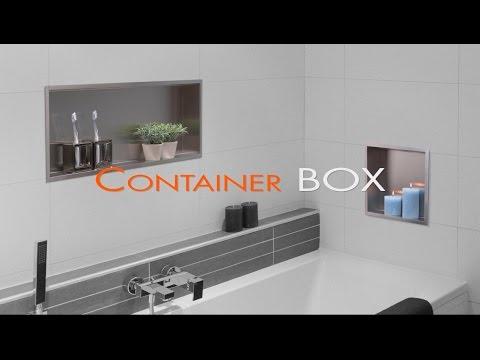 Wall Niche installation bathroom (Drywall) - Container BOX [English]