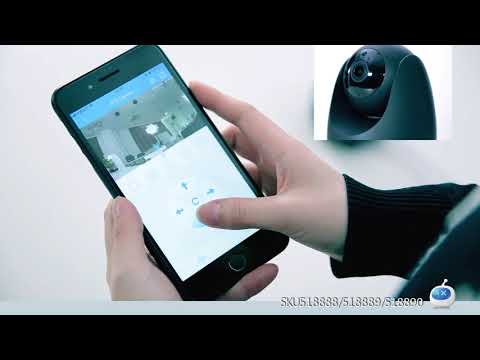 Cámara IP wifi OPTJOY QC21 1080P HD, cámara interior inalámbrica con seguimiento de movimiento