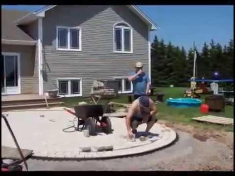 Rock Deck construction using pavers