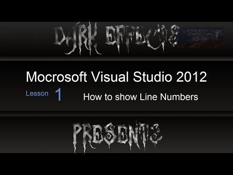 Visual Studio 2012 Lesson #14 - How To Show Line Numbers @visualstudi