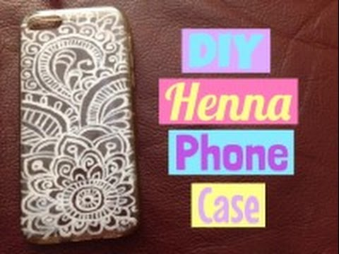 DIY Henna Phone Case