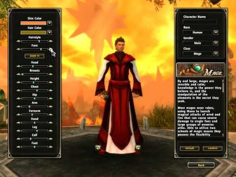 Lets Play!!! Runes of Magic Character Creation Menu