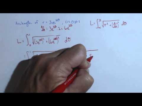 Arc Length of a Polar Curve with a Definite Integral