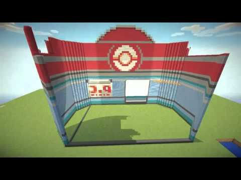 #Minecraft MEGA build: Pokemon Center showcase