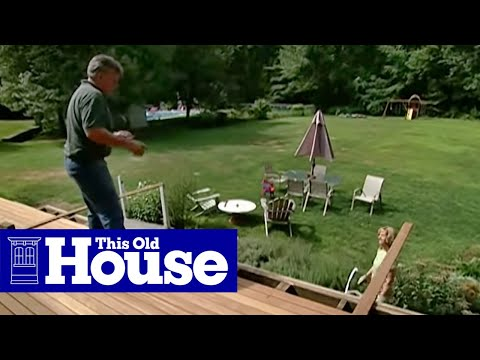 How to Pour a Concrete Deck Footing - This Old House