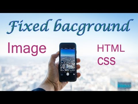Fixed background image on scrolling web page in html and css | web zone