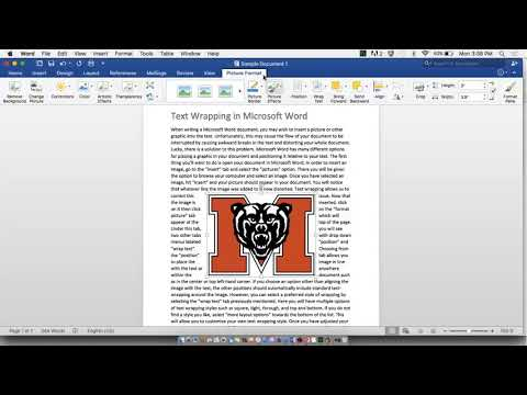 How to use text wrapping in Microsoft Word 2016 (Mac)