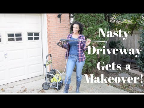 Nasty Driveway and Walkway Get a Makeover With My Electric Pressure Washer - Thrift Diving