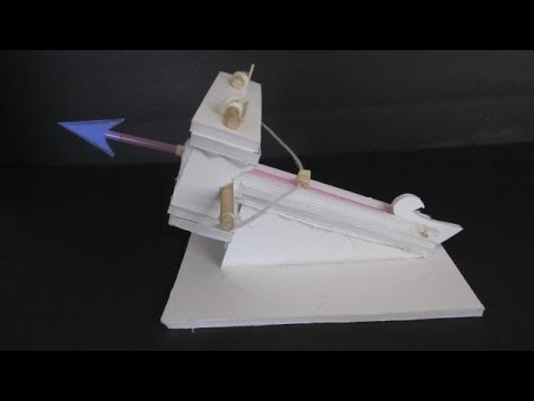 Make a miniature ballista - siege engine