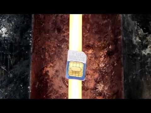 Melting a Vodacom Sim Card