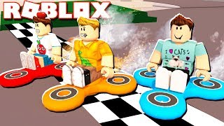 THE PALS DRIVE A FIDGET SPINNER IN ROBLOX