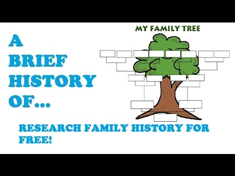 A Brief History of...How to Research your family history for Free!