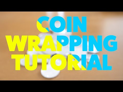 Coin Wrapping No Sticky Tape Tutorial