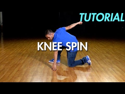 How to Knee Spin (Hip Hop Dance Moves Tutorial) | Mihran Kirakosian