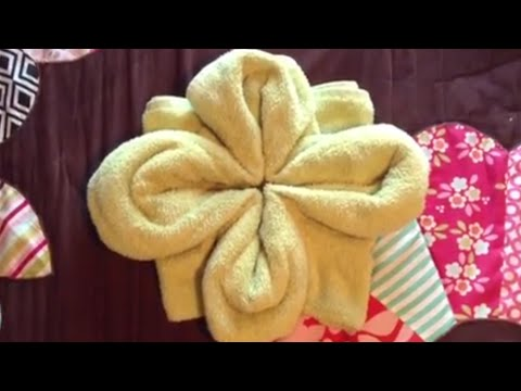 How to Make a Towel Flower