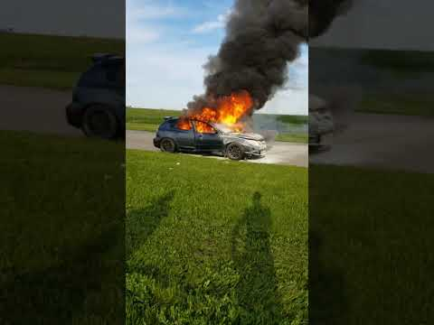 Race car bursts into flames at Gingerman Raceway in Michigan