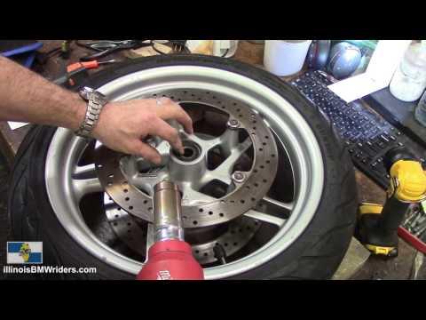 BMW Motorcycle Front Wheel Bearings Replacement DIY