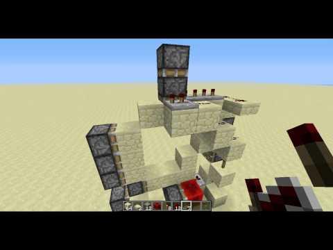 3x3 piston door - Redstone tutorial
