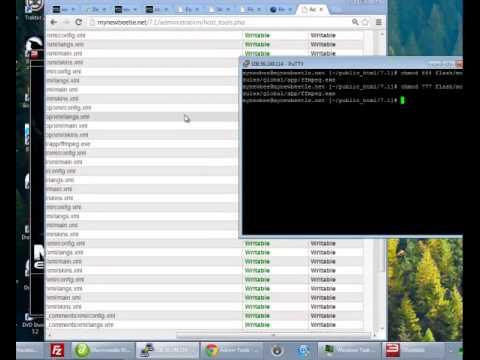 Setting file permissions via SSH