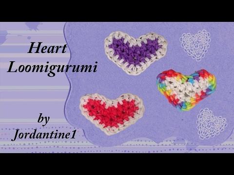 Heart Loomigurumi Amigurumi Rainbow Loom Band Crochet Hook Only Love Valentine's Day Quick Easy