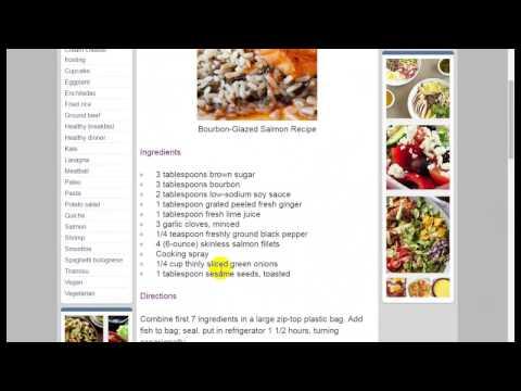 Salmon Recipes » Bourbon-Glazed Salmon Recipe - Recipep