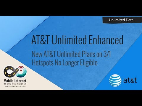 AT&T's New Unlimited Enhanced Plans Coming - Mobile Hotspots No Longer Eligible!