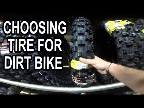 Buying new tire for your dirt bike - beginners guide. VLOG