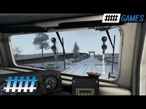 Train Simulator Cab Ride NJT F40PH-2CAT in Snow From Spring Lake, NJ to Asbury Park Station
