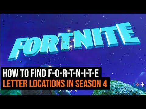 How To Find F-O-R-T-N-I-T-E Letter Locations in Season 4