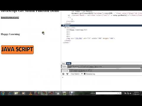 HOW TO GET MONTH IN JAVA SCRIPT DEMO