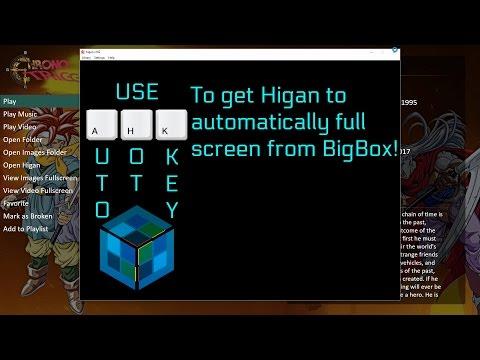 Launch Higan in fullscreen from BigBox (Tutorial)