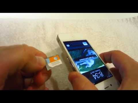How To Remove Apple iPhone 4S Micro SIM Card Tray - DIY Guide / Tutorial / Instructions